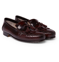 Tod's College Polished-Leather Kiltie Loafers
