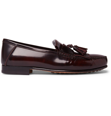 70664bc31fb Tod S College Polished-Leather Kiltie Loafers - Merlot