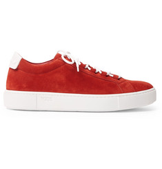 Tod's Leather-Trimmed Suede Sneakers