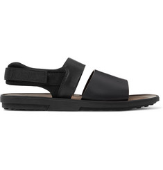 Tod's Neoprene and Grosgrain-Trimmed Leather Sandal