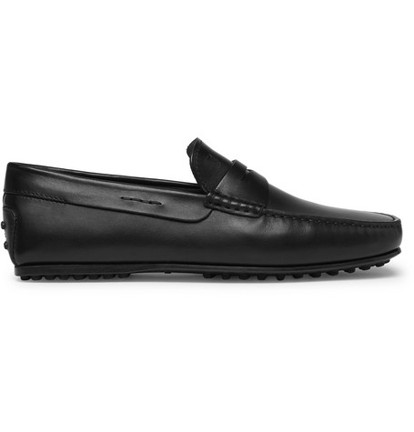 City Gommino Leather Penny Loafers - BlackTod's YViByeborO