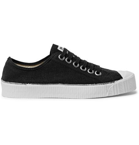 Special Cap-toe Linen-canvas Sneakers - BlackSpalwart UUGnmvbp6