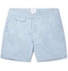 Sunspel - Leaf Geo Mid-Length Printed Shell Swim Shorts