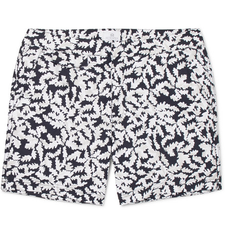 45577f20de Sunspel Leaf Mid-Length Printed Shell Swim Shorts - Navy | ModeSens