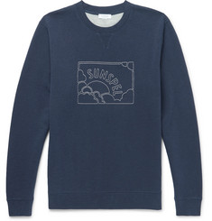 Sunspel Embroidered Loopback Cotton-Jersey Sweatshirt