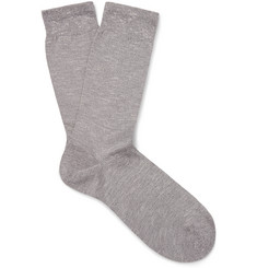 Sunspel - Mélange Combed Cotton-Blend Socks