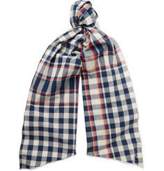 Engineered Garments Checked Cotton Scarf