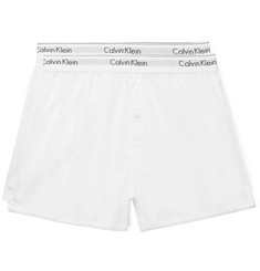 Calvin Klein Underwear Two-Pack Cotton-Poplin Boxer Shorts