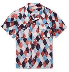 You As - Arlo Camp-Collar Printed Woven Shirt