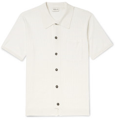You As Harvey Slim-Fit Ribbed Cotton and Silk-Blend Shirt