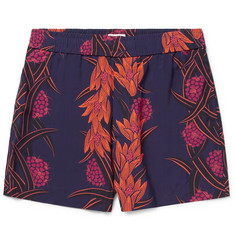 You As - Orion Printed Matte-Satin Shorts