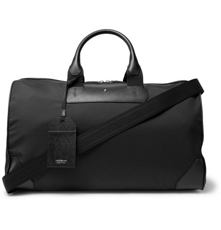 Sartorial Jet Cross Grain Leather Trimmed Shell Duffle Bag by Montblanc