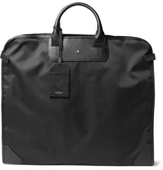 Montblanc - Sartorial Cross-Grain Leather-Trimmed Shell Garment Bag