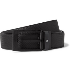 Montblanc 3cm Extreme Textured-Leather Belt
