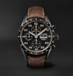 TAG Heuer Carrera Automatic Chronograph 45mm Titanium and Leather Watch