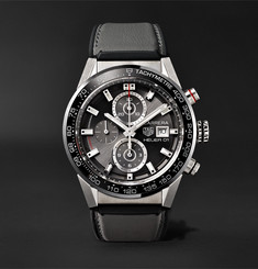 TAG Heuer Carrera Automatic Chronograph 43mm Steel and Rubber Watch