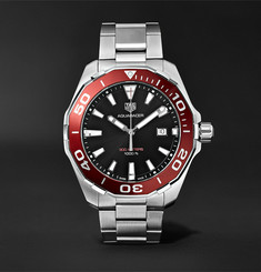 TAG Heuer - Aquaracer 43mm Polished-Steel Watch
