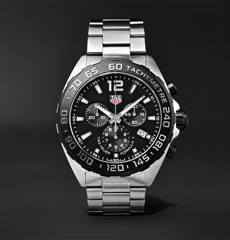 Formula 1 Chronograph 43mm Stainless Steel Watch - Silver