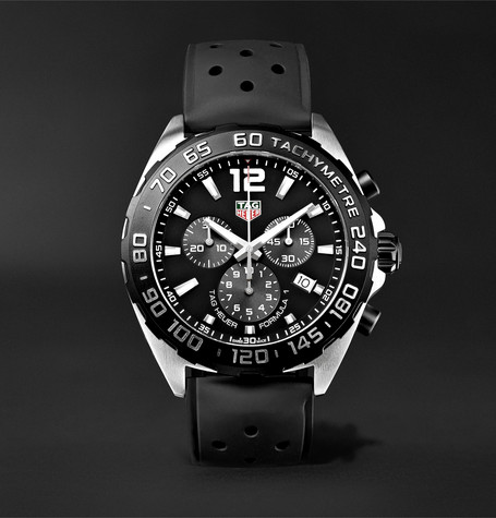 Formula 1 Chronograph 43mm Stainless Steel And Rubber Watch - Black