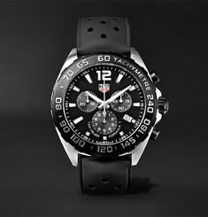 TAG Heuer - Formula 1 Chronograph 43mm Stainless Steel and Rubber Watch
