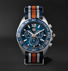 TAG Heuer Formula 1 Chronograph 43mm Steel and NATO Webbing Watch