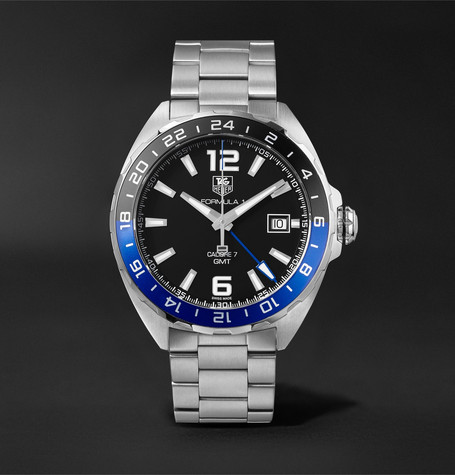 Formula 1 Gmt Automatic 41mm Stainless Steel Watch - Silver