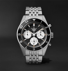 TAG Heuer - Autavia Automatic Chronograph 42mm Polished-Steel Watch