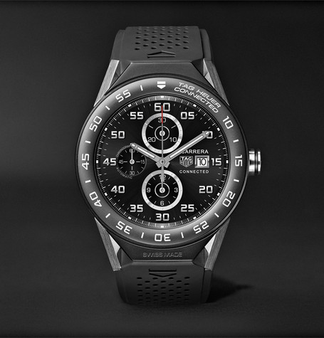 TAG Heuer Connected Modular 45mm Titanium, Ceramic and Rubber Smart Watch, Ref. No. SBF8A8001.11FT6076