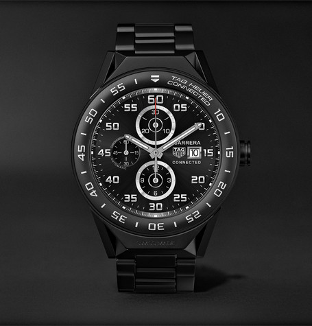 Connected Modular 45mm Titanium And Ceramic Smartwatch - Black