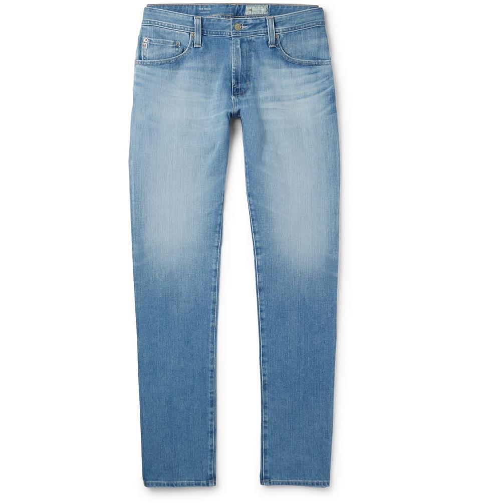 Tellis Slim-fit Stretch-denim Jeans - Light denim