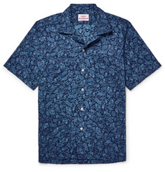 Battenwear - Camp-Collar Paisley-Print Cotton-Voile Shirt