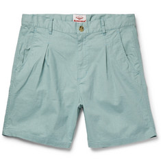 Battenwear Pleated Slub Cotton Shorts