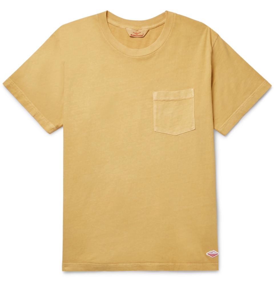 Cotton-jersey T-shirt - Yellow