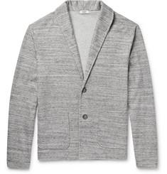 Eidos - Shawl-Collar Mélange Cotton-Blend Cardigan