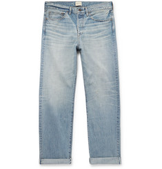 SIMON MILLER Distressed Selvedge Denim Jeans