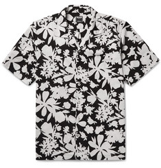 Todd Snyder Camp-Collar Floral-Print Cotton Shirt