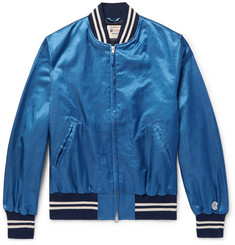 Todd Snyder + Champion - Cotton-Blend Satin Bomber Jacket