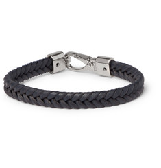 Tod's - Woven Leather and Silver-Tone Bracelet