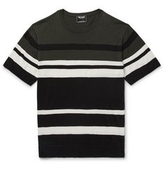 Todd Snyder Slim-Fit Striped Silk and Cotton-Blend Sweater
