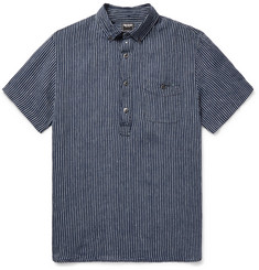 Todd Snyder - Button-Down Collar Striped Slub Linen Shirt
