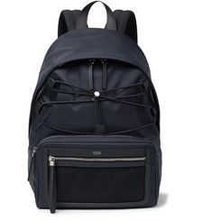 Tod's Leather-Trimmed Ripstop Backpack