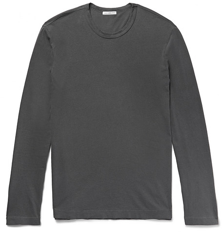 James Perse Combed Cotton-jersey T-shirt In Dark Gray