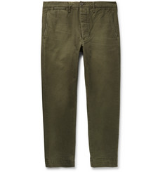 Fabric-Brand & Co Cropped Slim-Fit Washed Cotton-Twill Chinos
