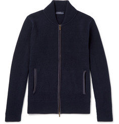Thom Sweeney - Slim-Fit Cashmere and Wool-Blend Zip-Up Cardigan