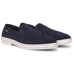 Rivieras - Perforated Suede Espadrilles