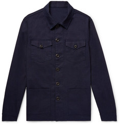 Altea Indigo-Dyed Cotton Shirt Jacket