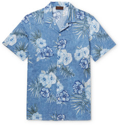 Altea Camp-Collar Printed Cotton Shirt