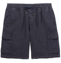Altea Garment-Dyed Linen Drawstring Cargo Shorts