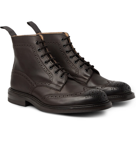Stow Burnished-leather Brogue Boots Trickers Cheap Real Finishline 2018 New For Sale Fashion Style For Sale M8IPCNYa