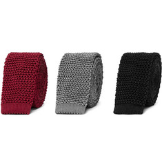 Charvet - Set of Three 4.5cm Knitted Silk Ties